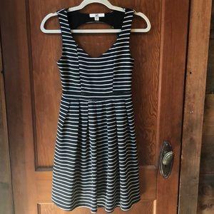 Black and white strip tank dress